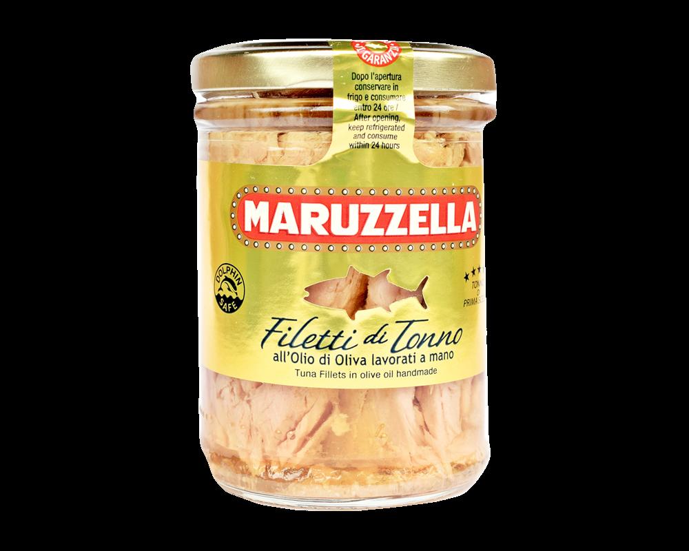 Maruzzella tonhalfilé szeletek olívaolajban