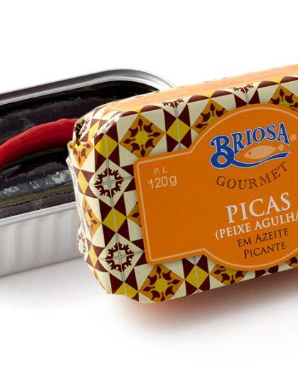 Díszdobozos halkonzerv válogatás - Briosa tengeri apróhalak fűszeres olívaolajban, 120 g