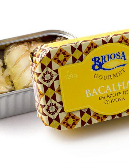 Díszdobozos halkonzerv válogatás - Briosa tőkehal olívaolajban, 120 g