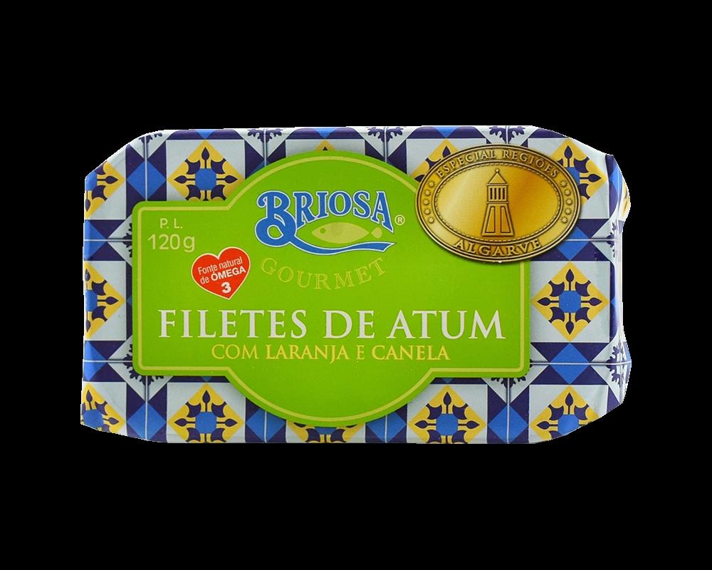 Briosa tonhalfilé naranccsal és fahéjjal