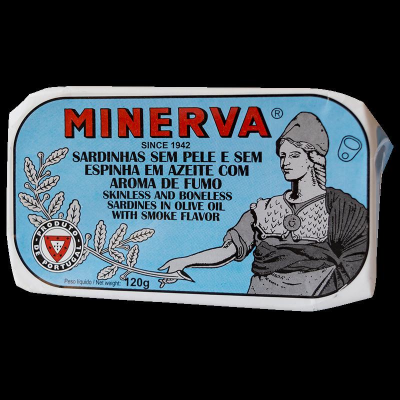 Minerva enyhén füstölt ízű szardínia filé olívaolajban