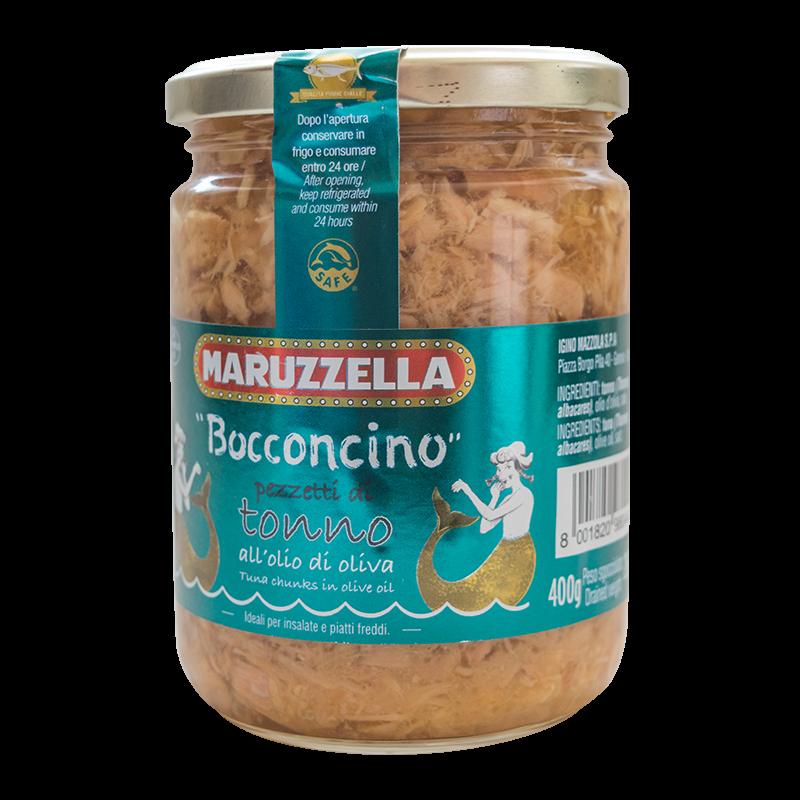Maruzzella Bocconcino tonhaldarabok olívaolajban