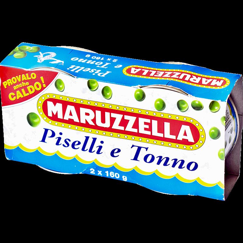 Maruzzella tonhalsaláta zöldborsóval paradicsomos szószban